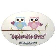 Deplorable Divas Owls Decal